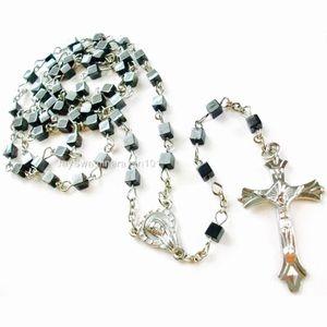 Hematite Rosary Beads Necklace